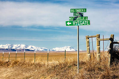 Photograph - Rural Sign Post by Todd Klassy