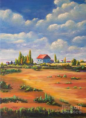 Painting - Rural Skies by Ushangi Kumelashvili