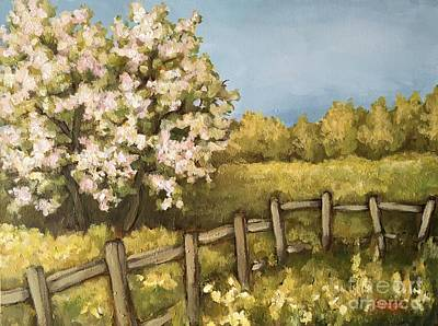 Painting - Rural Spring by Inese Poga