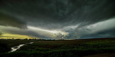 Photograph - Rural Spring Storm Over Chester Nebraska by Art Whitton