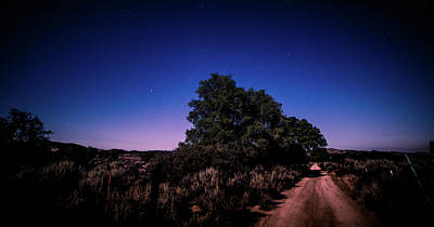 Photograph - Rural Starlit Road by T Brian Jones