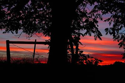 Photograph - Rural Sunset 1 by Kathryn Meyer