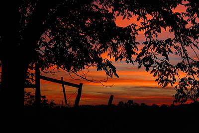 Photograph - Rural Sunset 2 by Kathryn Meyer