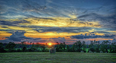 Art Print featuring the photograph Rural Sunset by Lewis Mann