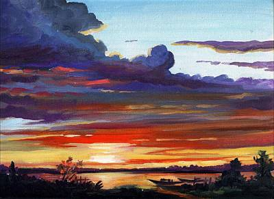 Painting - Rural Sunset by Samiran Sarkar