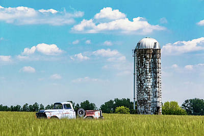 Silo Photograph - Rural by Tom Mc Nemar