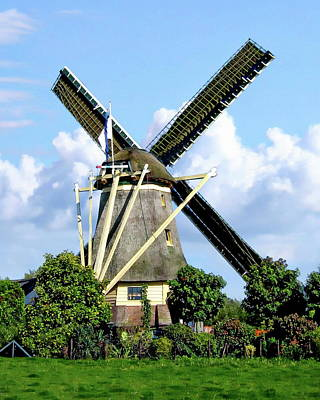 Photograph - Rural Windmill by Anthony Dezenzio