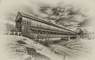 Covered Bridge Mixed Media - Rusagonish Covered Bridge by Jason Bennett