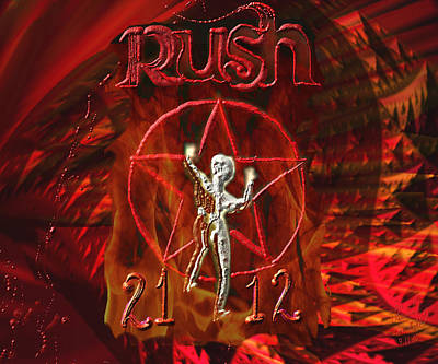 Mixed Media - Rush 2112 by Kevin Caudill