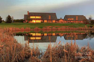 Sports Royalty-Free and Rights-Managed Images - Rush Creek Golf Course Reflections by Wayne Moran