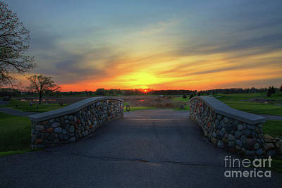 Sports Royalty-Free and Rights-Managed Images - Rush Creek Golf Course The Bridge to Sunset by Wayne Moran