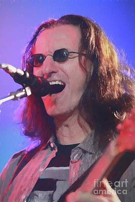 Lead Vocalist Painting - Rush Geddy Lee Painting by Concert Photos