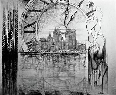 Drawing - Rush Hour by Geni Gorani