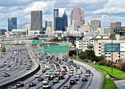 Photograph - Rush Hour In Atlanta by Frozen in Time Fine Art Photography