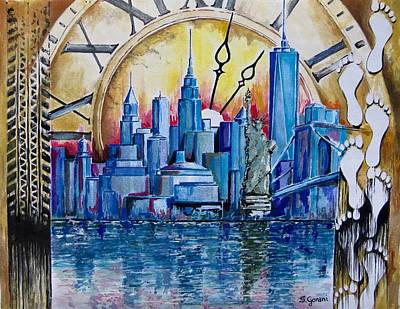 Painting - Rush Hour In New York  by Geni Gorani