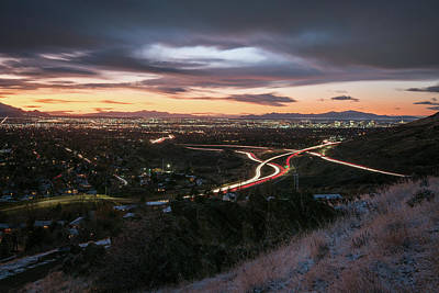 Photograph - Rush Hour In Salt Lake City by James Udall