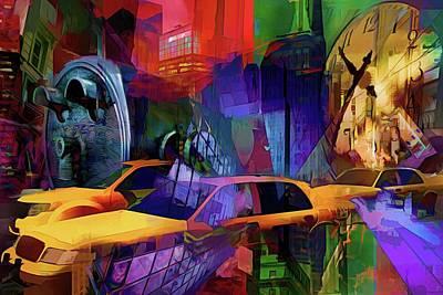 Surrealism Digital Art - Rush Hour - New York  by Daniel Arrhakis