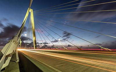 Photograph - Rush Hour - Ravenel Bridge Charleston Sc by Donnie Whitaker