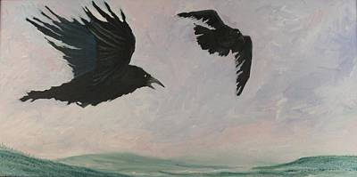 Rush Hour Ravens Art Print by Amy Reisland-Speer