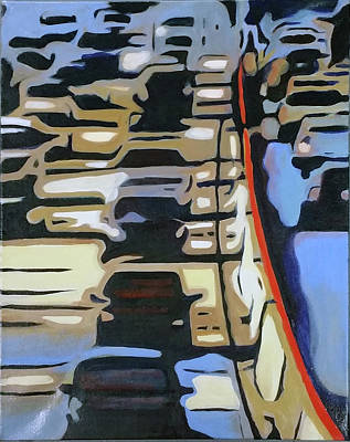 Painting - Rush Hour, San Jose by Barbara Oertli