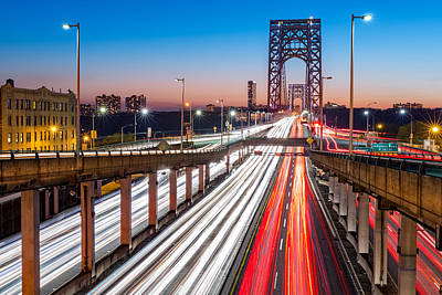 Photograph - Rush Hour Traffic On George Washington Bridge by Mihai Andritoiu