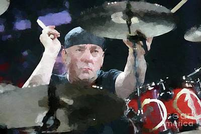Neil Peart Painting - Rush Neil Peart Painting by Concert Photos