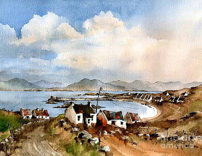 Painting - Rusheen Towards Mweelrea, Boffin, Galway. by Val Byrne