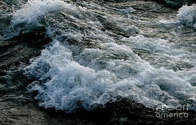 Photograph - Rushing Bubbling Waters Of The Niagara River by Rose Santuci-Sofranko