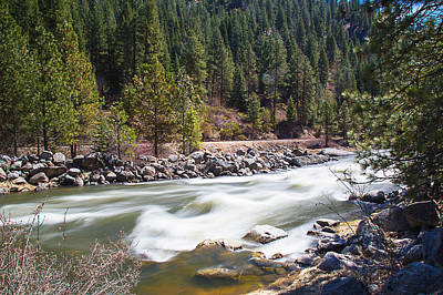 Art Print featuring the photograph Rushing River by Dart Humeston