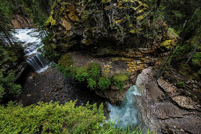 Photograph - Rushing River In Johnson Canyon, Banff Canada by Dave Dilli