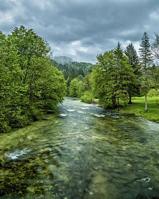 Rushing River Art Print by Lindley Johnson