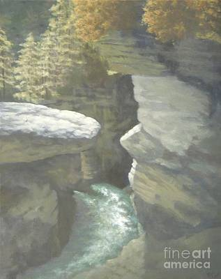 Painting - Rushing River by Phyllis Andrews