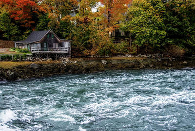 Damariscotta Digital Art - Rushing River by Terry Davis