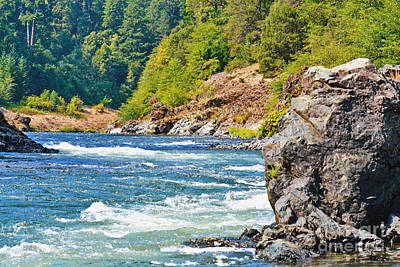 Photograph - Rushing Rogue River by Ansel Price