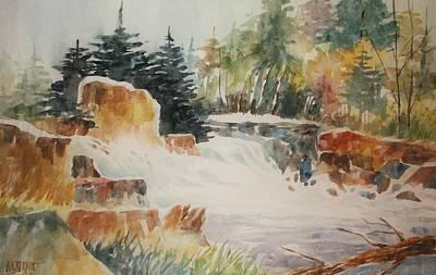 Rushing Streambed Art Print by Al Brown