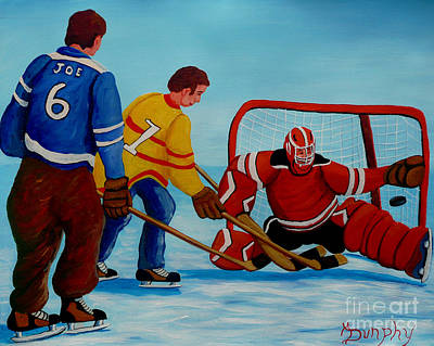 Painting - Rushing The Net by Anthony Dunphy