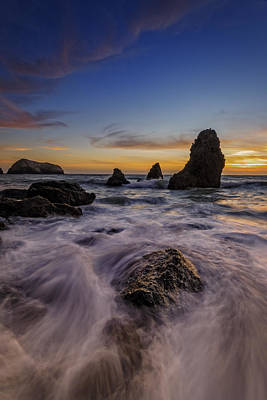 Rushing Tide On Rodeo Beach Art Print