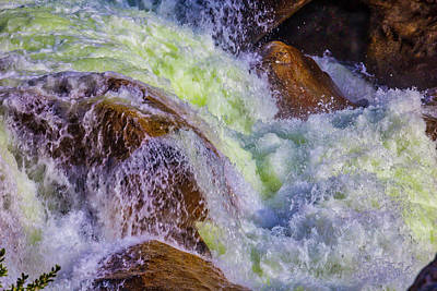 Rushing Water Art Print by Garry Gay