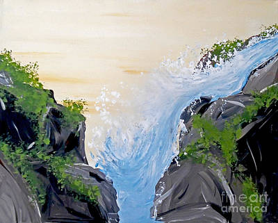 White Water Rafting Painting - Rushing Water by Jilian Cramb - AMothersFineArt