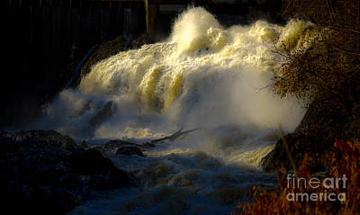 Rushing Water Art Print by Sherman Perry