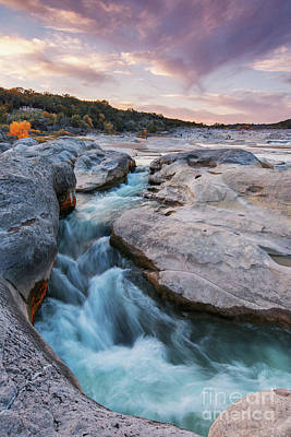 Rushing Waters At Pedernales Falls State Park - Texas Hill Country Art Print