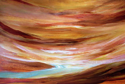 Painting - Rushing Waters By V.kelly by Valerie Anne Kelly