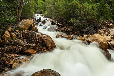 Photograph - Rushing Waters-colorado by TL  Mair