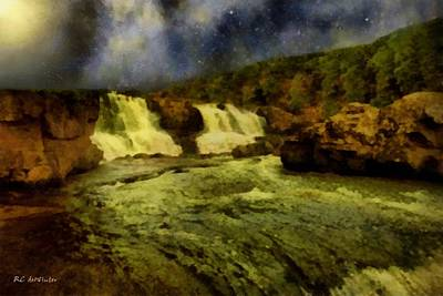 Painting - Rushing Waters by RC DeWinter