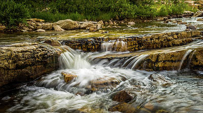 Photograph - Rushing Waters - Upper Provo River by TL Mair
