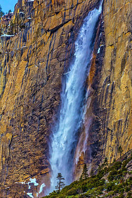 Photograph - Rushing Winter Upper Yosemite Falls by Garry Gay