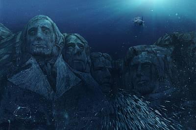 Politicians Digital Art - Rushmore by Andrea Gatti
