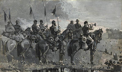 Winslow Homer Painting - Rush's Lancers by Winslow Homer