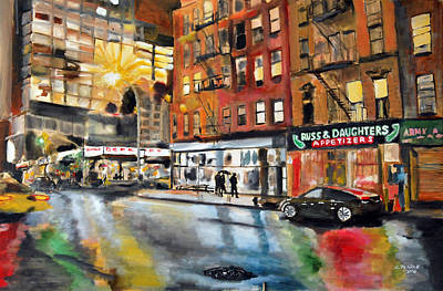 Wall Art - Painting - Russ And Daughters by Wayne Pearce