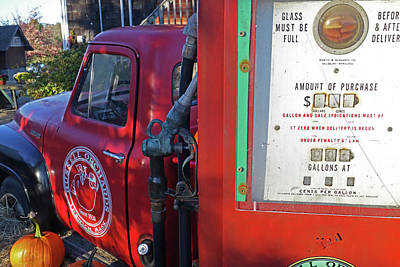 Photograph - Russel Farms 1951 Ford F100 Gas Pump by Toby McGuire
